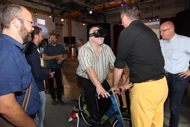 Fietsen in virtual reality